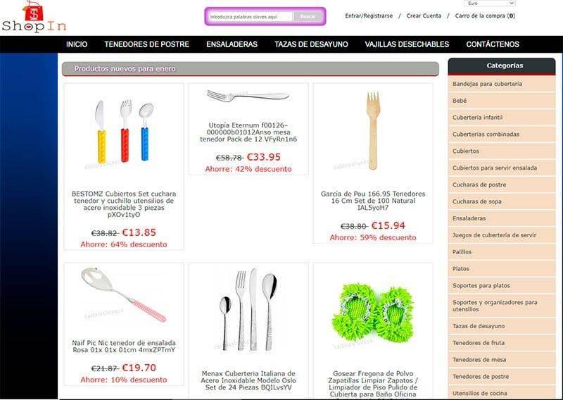 Calderashuesca.es Tienda Falsa Online Utiles Cocina