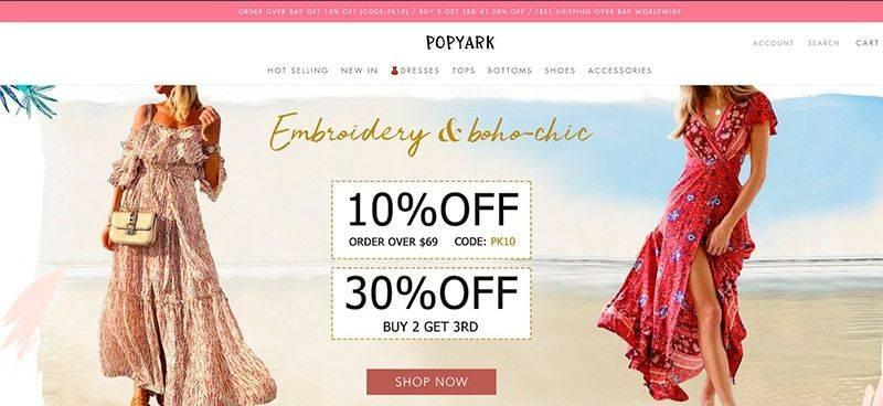 Popyark.com Tienda Falsa Online Moda Mujer