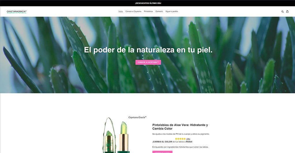 Cayetanagracia.com Tienda Online Dudosa Pintalabios Aloe Vera